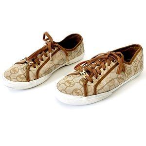 MK Michael Kors brown/tan tennis shoes